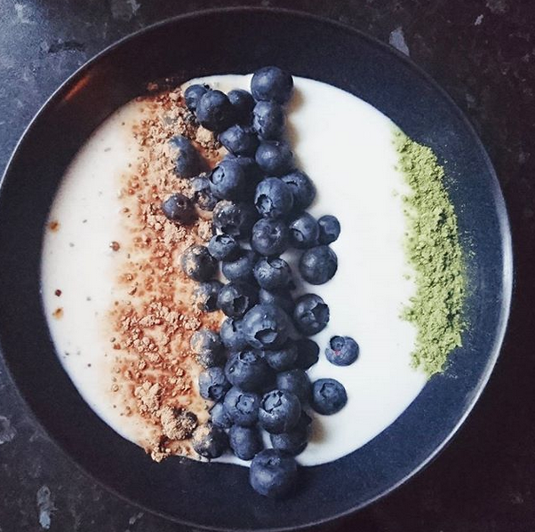 goat yoghurt organic blueberries