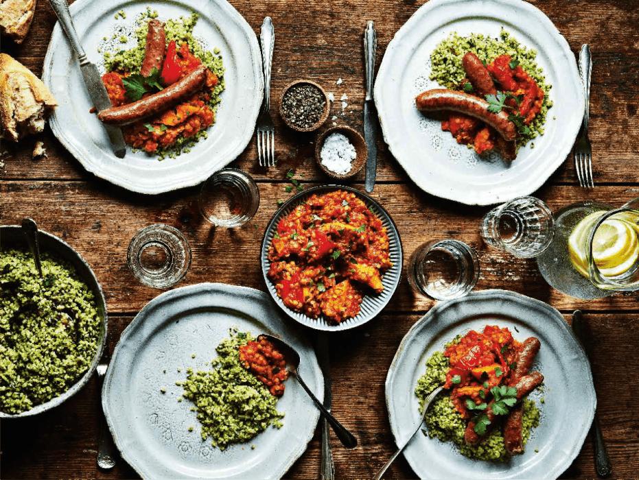 Sötpotatis, paprika, vitlök och kryddig la